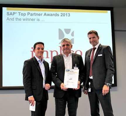 SAP Top partner award 2013 Implico CH